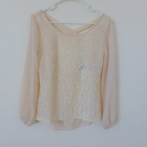 A'Reve Blush textured top with open back